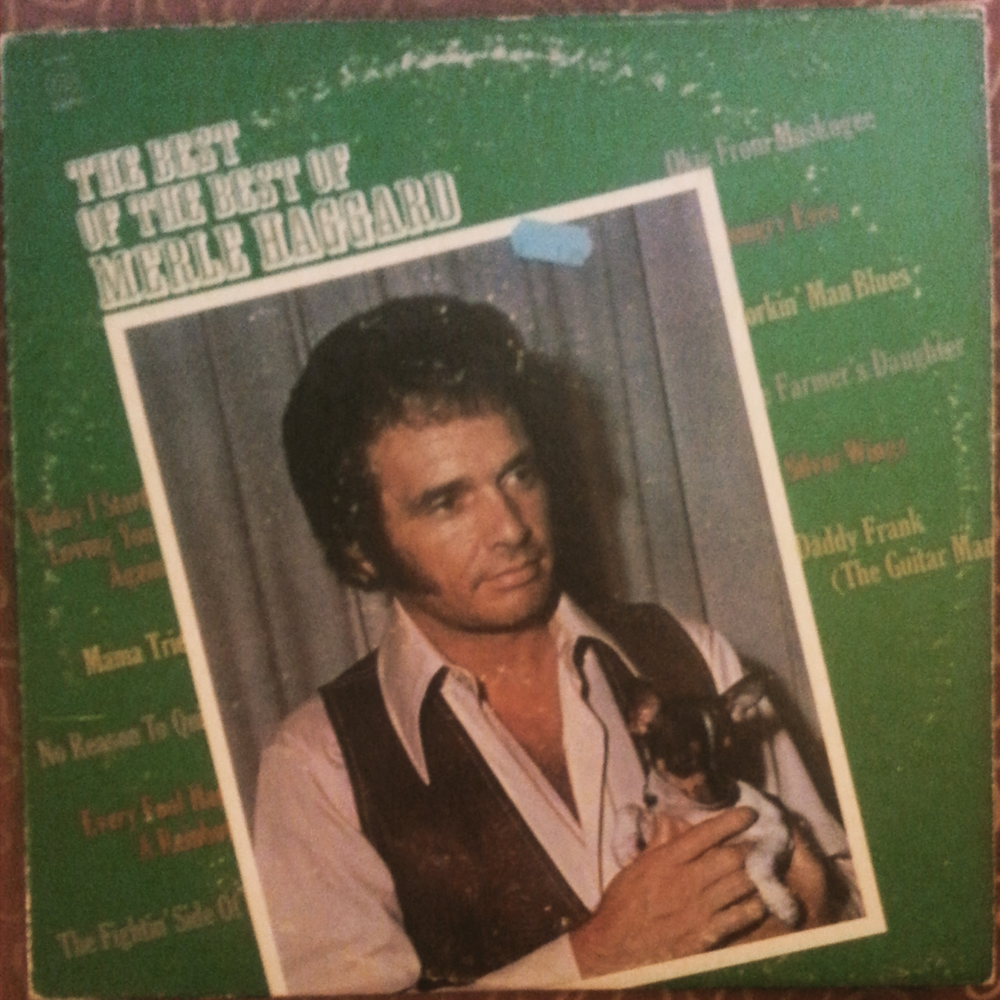 "Merle Haggard Classic Vinyl Record ""The Best of the Best of Merle Haggard"""