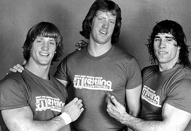 Kevin, David and Kerry Von Erich