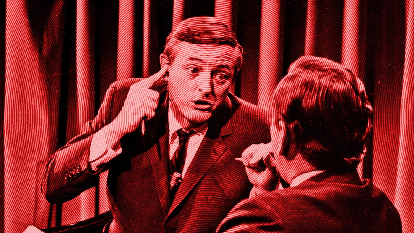 gore vidal and william f. buckley during the 1968 democratic national convention debate
