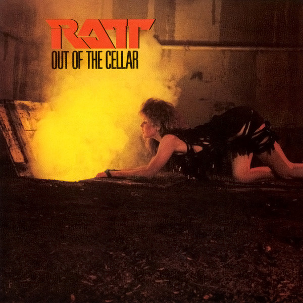 "tawny kitaen album cover for Ratt ""Out of the Cellar"""